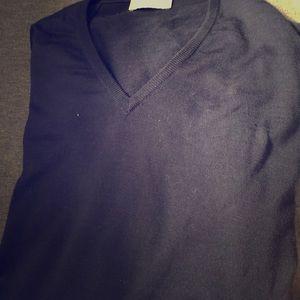 John Smedley Navy V Next Merino Pullover